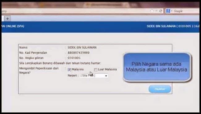 cara menjawab peperiksaan online spa psee malaysia