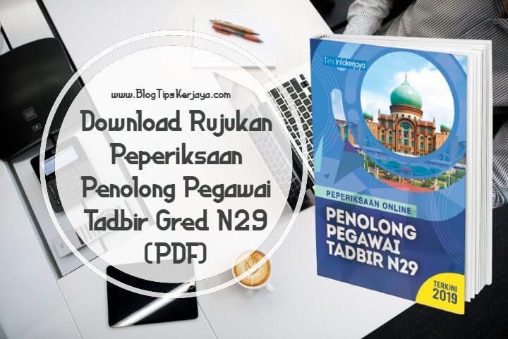 Contoh Soalan Peperiksaan Penolong Pegawai Tadbir N29 (PDF ...